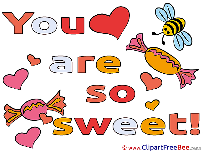 Candies You are sweet Clip Art for free