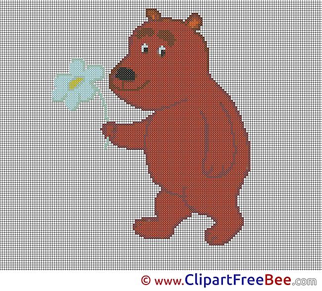 Bear free Cross Stitches download