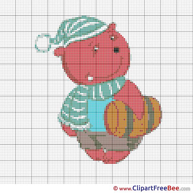 Bear Patterns free Cross Stitch