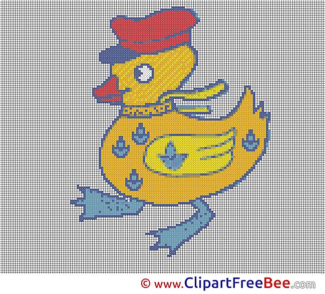 Duck Design download Cross Stitch