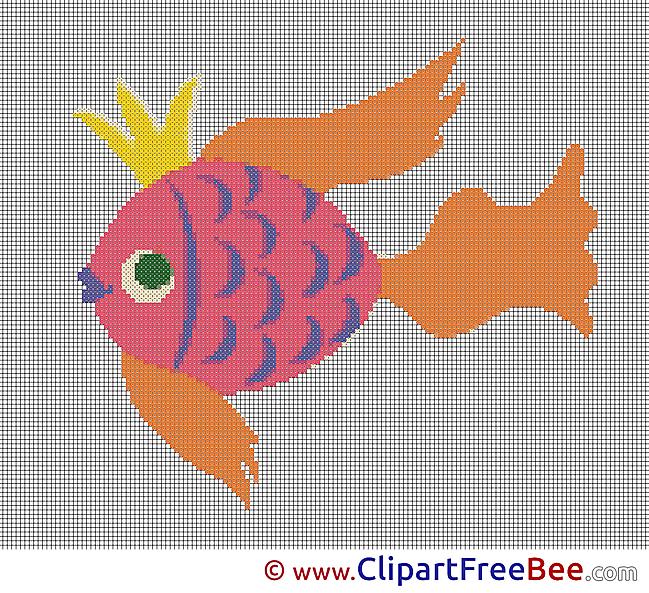 Fish Cross Stitches free