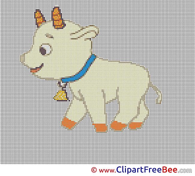 Goat Patterns printable Cross Stitch