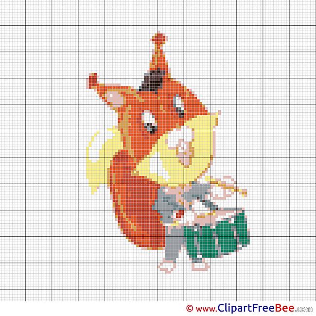 Squirrel Cross Stitches download free