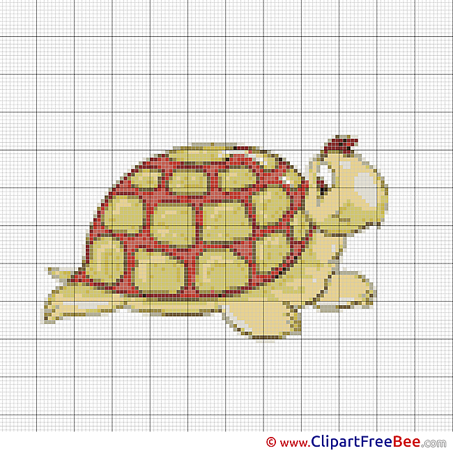 Turtle Design Cross Stitches free