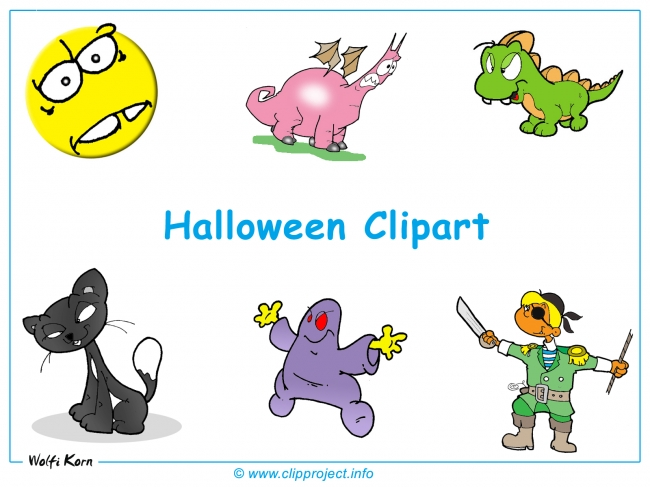 Halloween and Monsters Clipart free