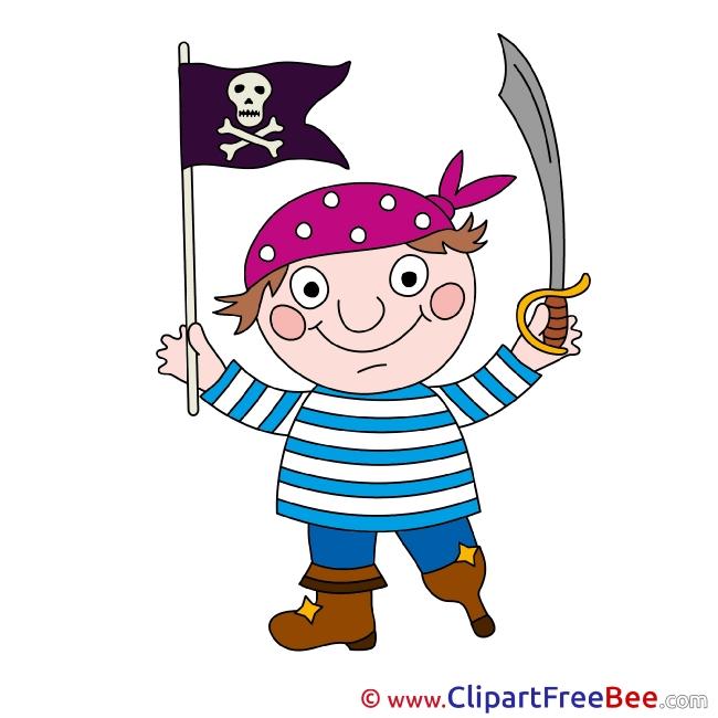 Flag Pirate Pics Fairy Tale Illustration