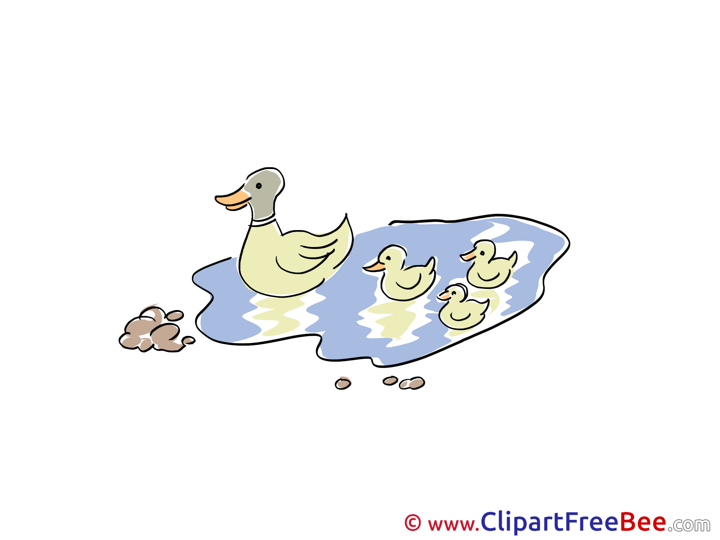 Lake Ducks printable Illustrations for free