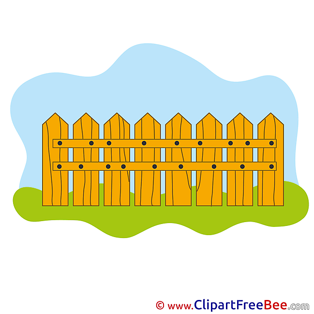 Wood Fence printable Illustrations for free