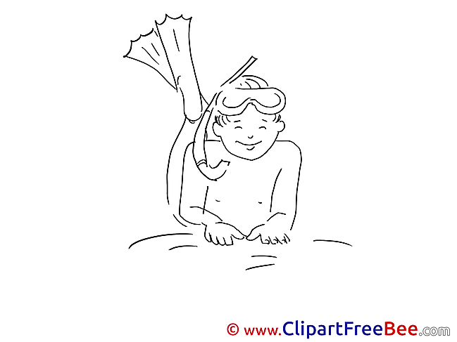 Diver Vacation Illustrations for free