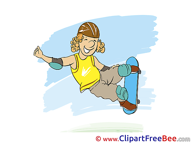 Skate Clipart Vacation Illustrations