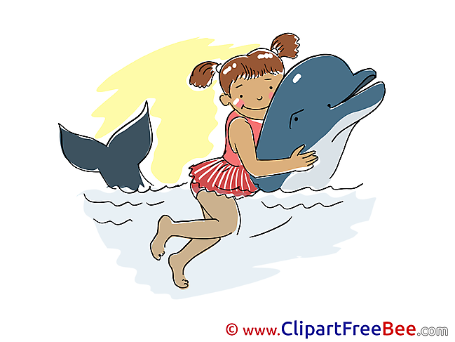 Swimming Dolphin Vacation free Images download