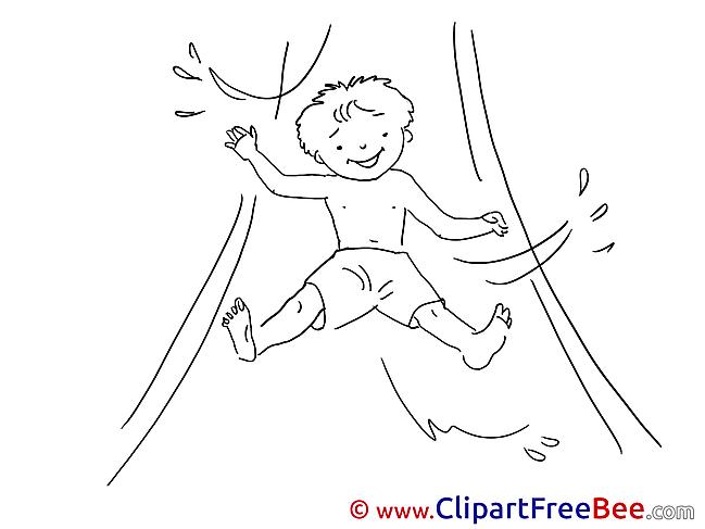 Toboggan Cliparts Vacation for free