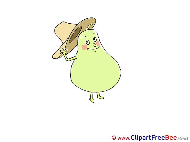 Hat Pear Pics download Illustration