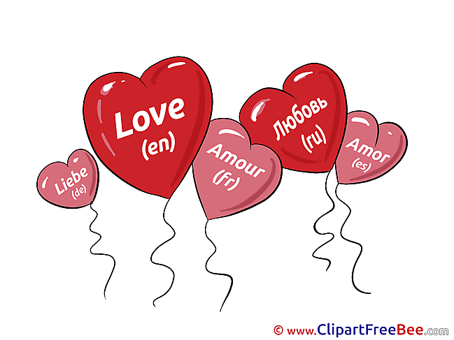 Balloons Love Clipart Hearts Illustrations