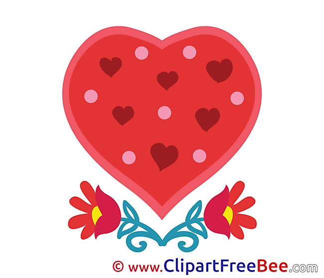 Flowers Pics Hearts free Cliparts