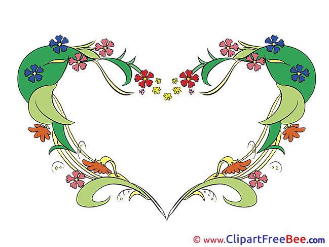 Spring Flowers free Cliparts Hearts