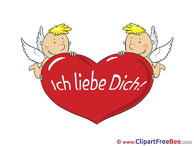 Amurs Cupids Heart I Love You free Images download