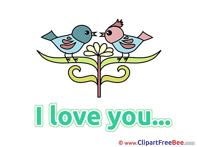 Birds Pics I Love You free Cliparts