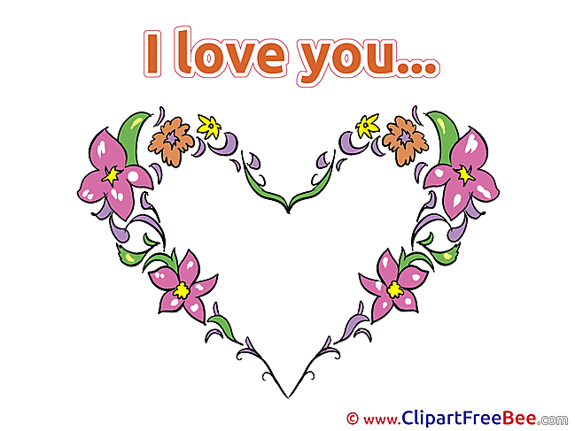 Flowers Heart download Clipart I Love You Cliparts