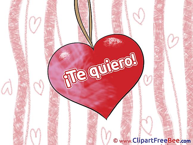 Heart Pendant Clipart I Love You Illustrations