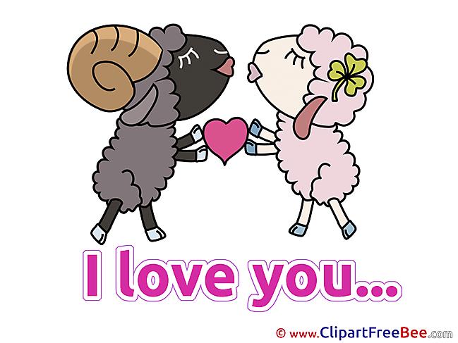 Sheeps Heart I Love You download Illustration
