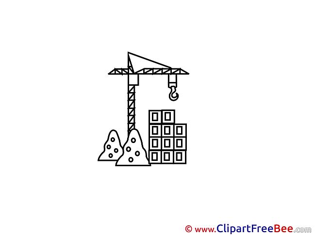 Construction Crane Clipart free Illustrations