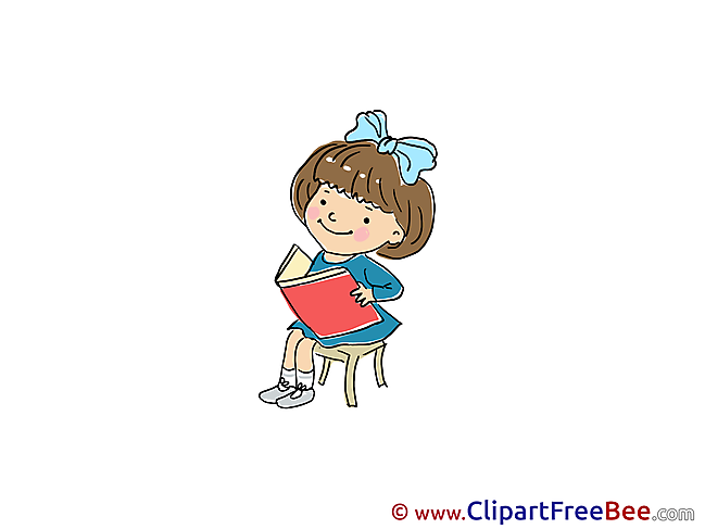 Book Girl reads Clipart Kindergarten free Images