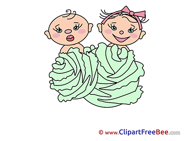 Cabbage Kids Clipart Kindergarten Illustrations