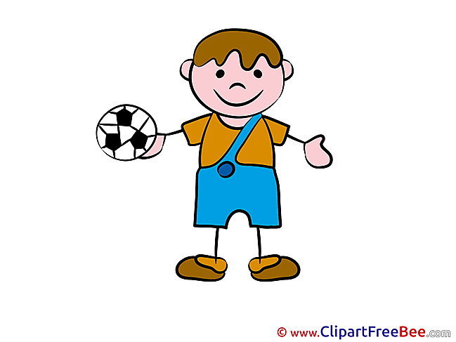 Footballer Boy printable Kindergarten Images