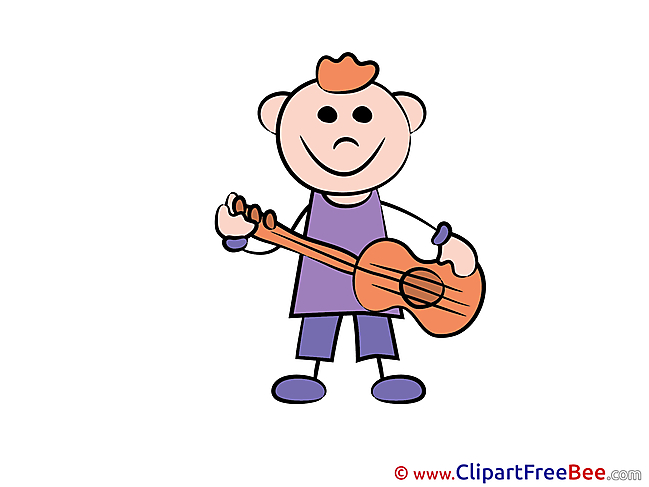 Guitar Boy plays Kindergarten free Images download