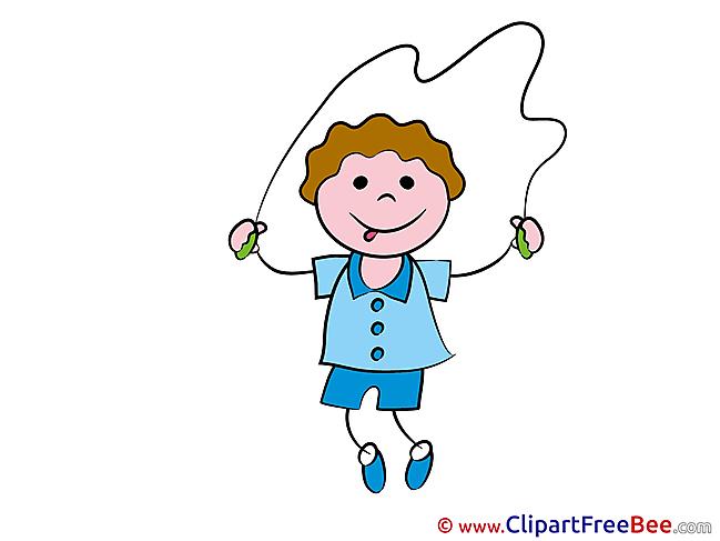 Jumping Rope Boy Pics Kindergarten free Image