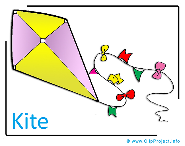 Kite Clipart Image free - Kindergarten Clipart Images for free