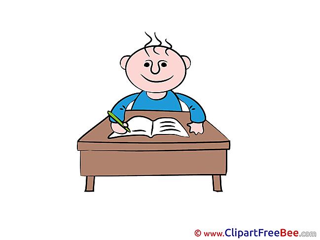 Lesson Boy Kindergarten Clip Art for free