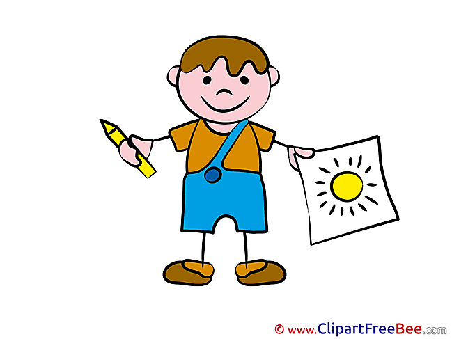 Painter Kid Pics Kindergarten free Cliparts