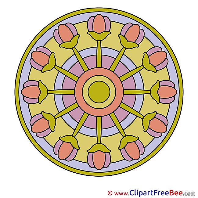 Clip Art Mandala Illustration