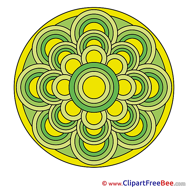 Meditation download Mandala Illustrations
