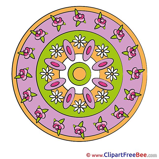 Meditation Pics Mandala Illustration