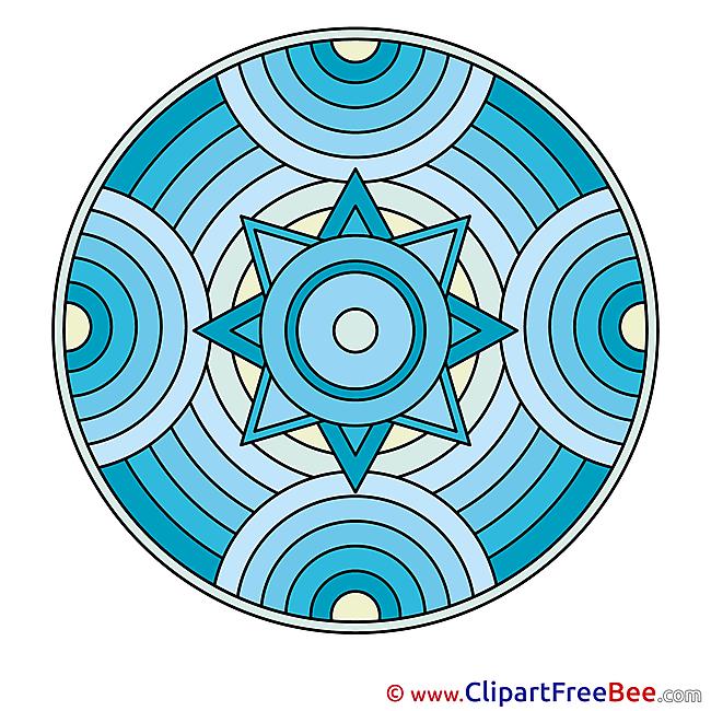 Religion Mandala Clip Art for free