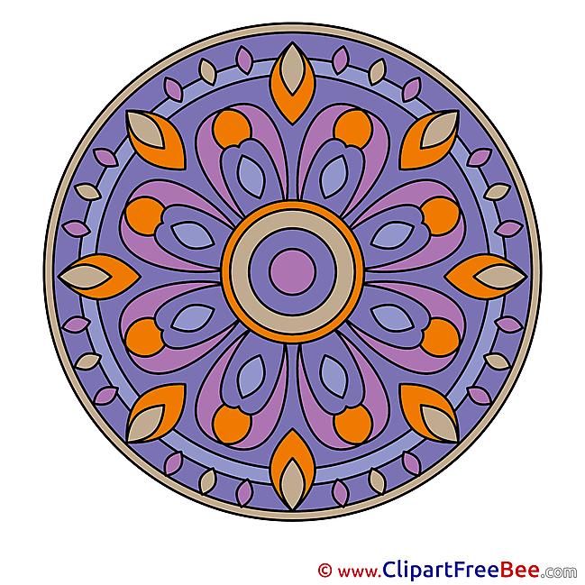 Religion printable Illustrations Mandala
