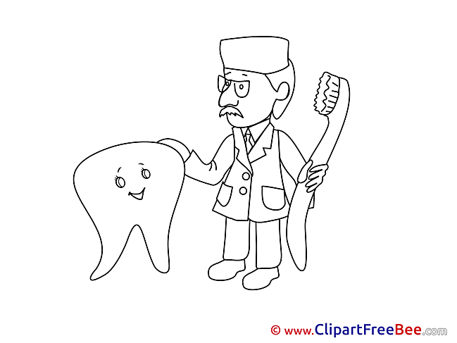 Dentist Tooth Toothbrush download printable Illustrations