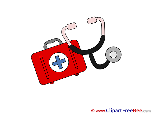 Medical Kit Stethoscope Pics printable Cliparts