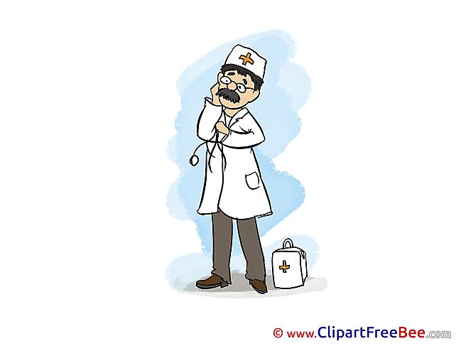 Medicine Doctor printable Illustrations for free