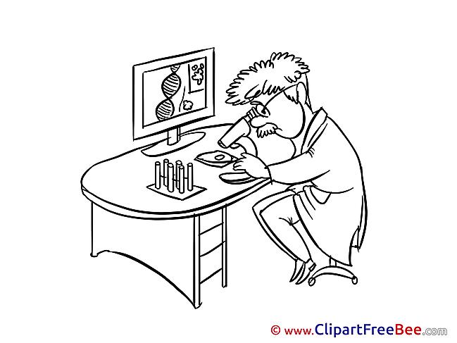 Microscope Doctor Pics download Illustration