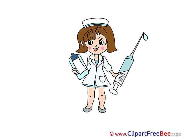 Nurse Medicine printable Illustrations for free