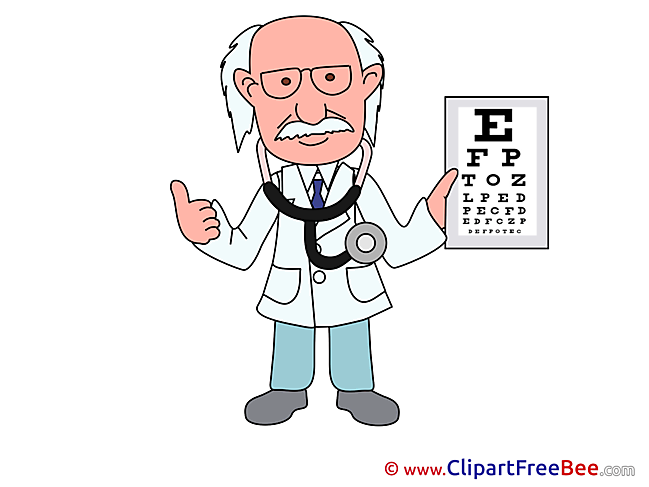 Oculist Doctor Clip Art download for free