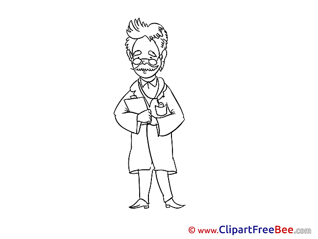 Professor Doctor printable Illustrations for free