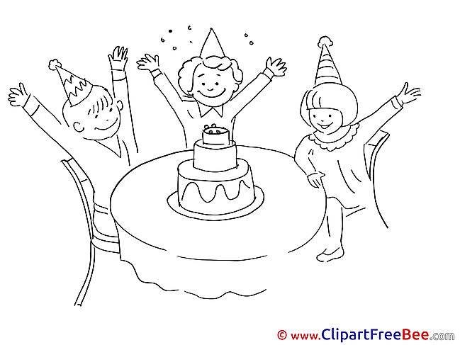 Anniversary Cake Children Clip Art download Party