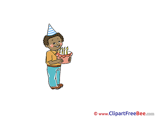 Cake Boy Candles download Clipart Party Cliparts