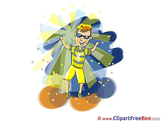 Cool Boy Dancer Clipart Party free Images