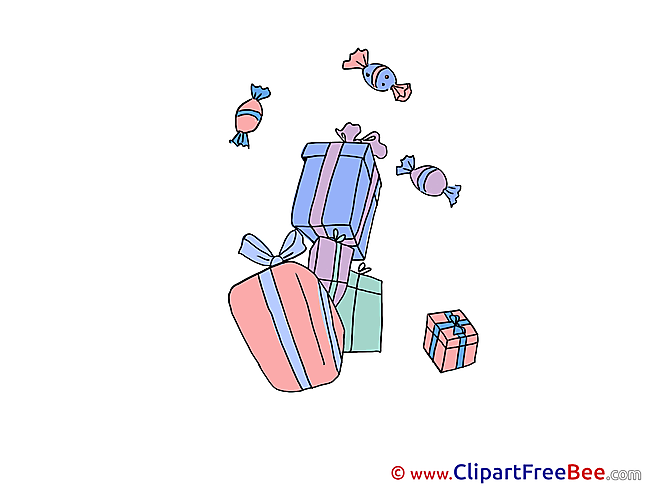 Gifts Sweets Party Clip Art for free